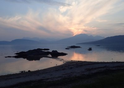 sunset view of Cuillins